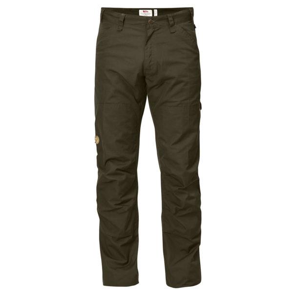 Spodnie trekkingowe Fjallraven Barents Pro Jeans M81461 - kolor dark olive 633 - męskie