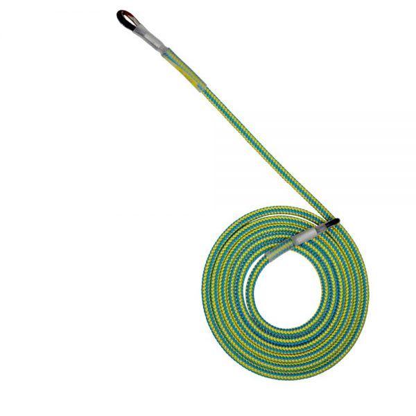 Sprzęt arborystyczny - lonże stabilizacyjne - Tree Runner lonża z 2 kauszami - Super Flex 12,5 mm - Kolor żółto-niebieski - EN 358
