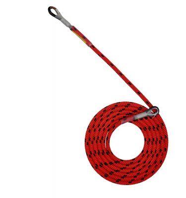 Sprzęt arborystyczny - lonże stabilizacyjne - Tree Runner lonża z 2 kauszami - Super Flex 12,5 mm - Kolor czerwono-czarny - EN 358
