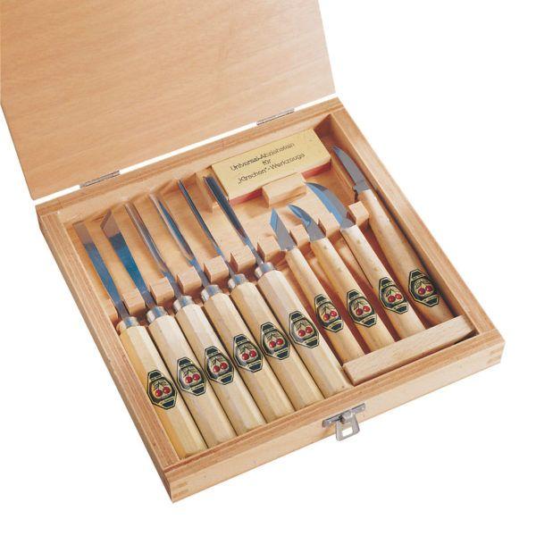 Sprzęt leśny - sprzęt dla cieśli - sprzęt dla stolarzy - zestaw dłut Kirschen 11 elementów
