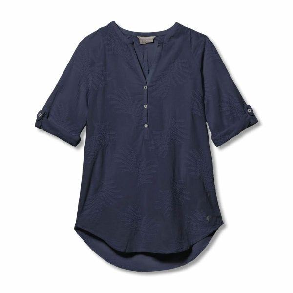 Bluzka damska Royal Robbins Oasis Tunic II 3/4 niebieska Y612016